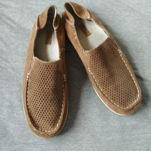 Olukai brown perforated loafer